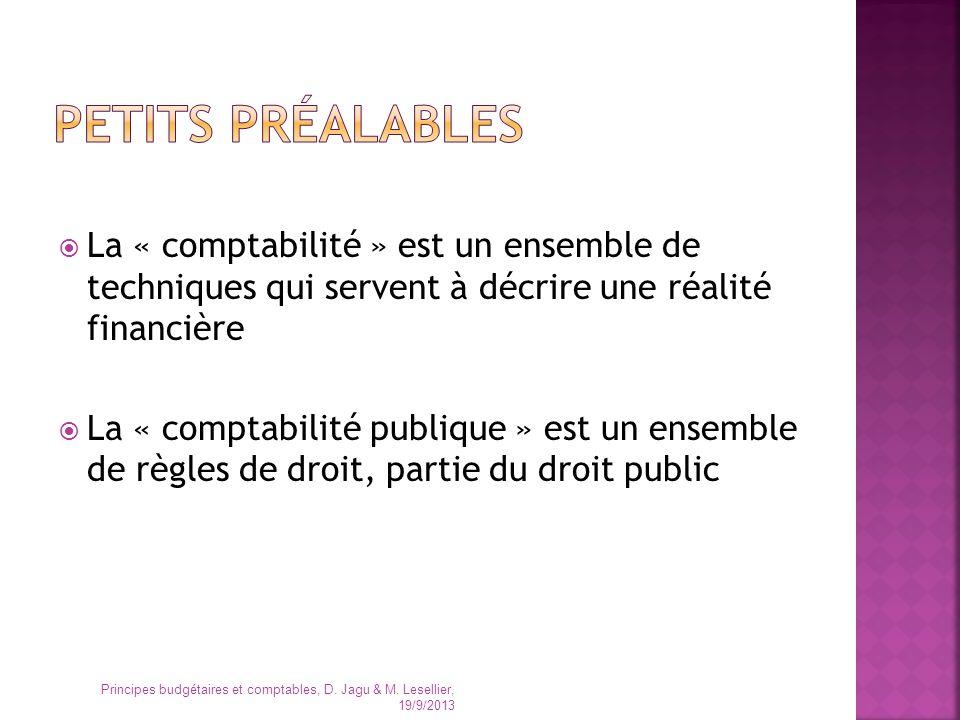 Lengagement La liquidation Lordonnancement (le mandatement) Le paiement Principes budgétaires et comptables, D.