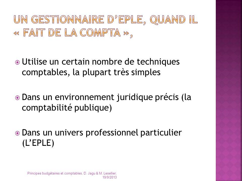 Dans les EPLE, cette séparation est organisée selon un système particulier Elle place le gestionnaire comptable, mais aussi le gestionnaire matériel, dans une situation originale, en regard des autres administrations publiques.