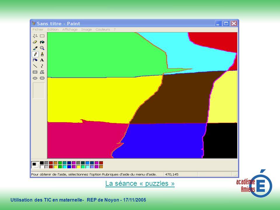 2/11/2005 Utilisation des TIC en maternelle- REP de Noyon - 17/11/2005