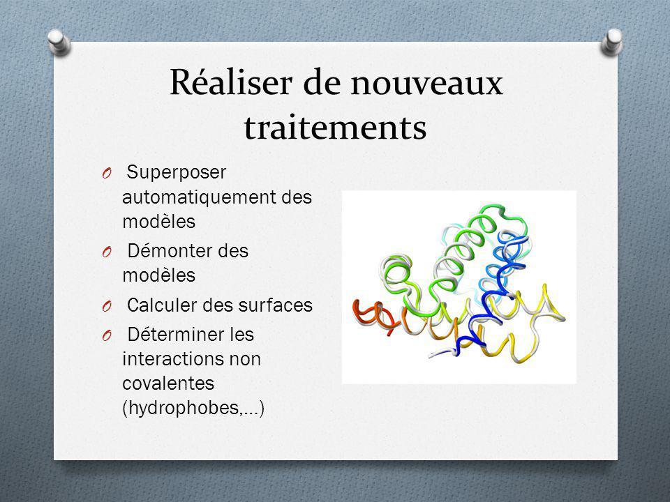 Réaliser de nouveaux traitements O Superposer automatiquement des modèles O Démonter des modèles O Calculer des surfaces O Déterminer les interactions