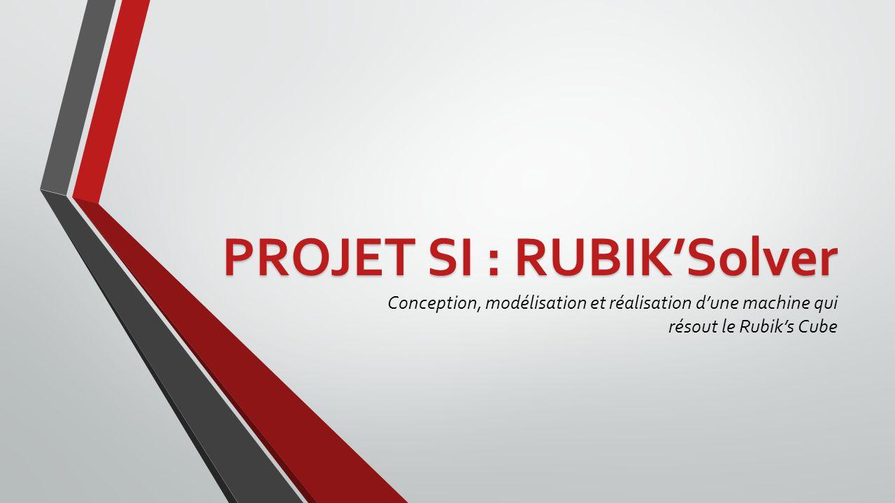 PROJET SI : RUBIKSolver Conception, modélisation et réalisation dune machine qui résout le Rubiks Cube