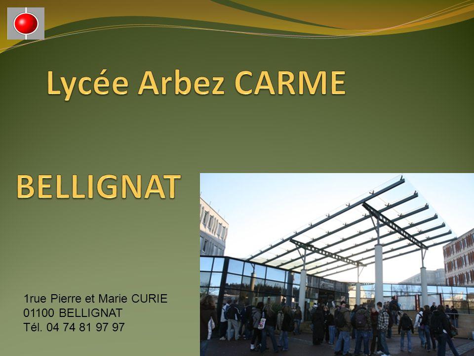 1rue Pierre et Marie CURIE 01100 BELLIGNAT Tél. 04 74 81 97 97