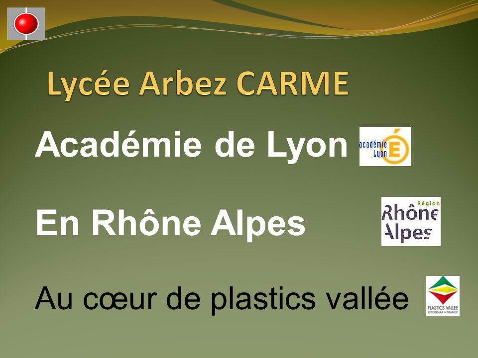 Académie de Lyon En Rhône Alpes Au cœur de plastics vallée