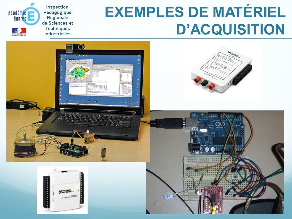 Inspection Pédagogique Régionale de Sciences et Techniques Industrielles EXEMPLES DE MATÉRIEL DACQUISITION