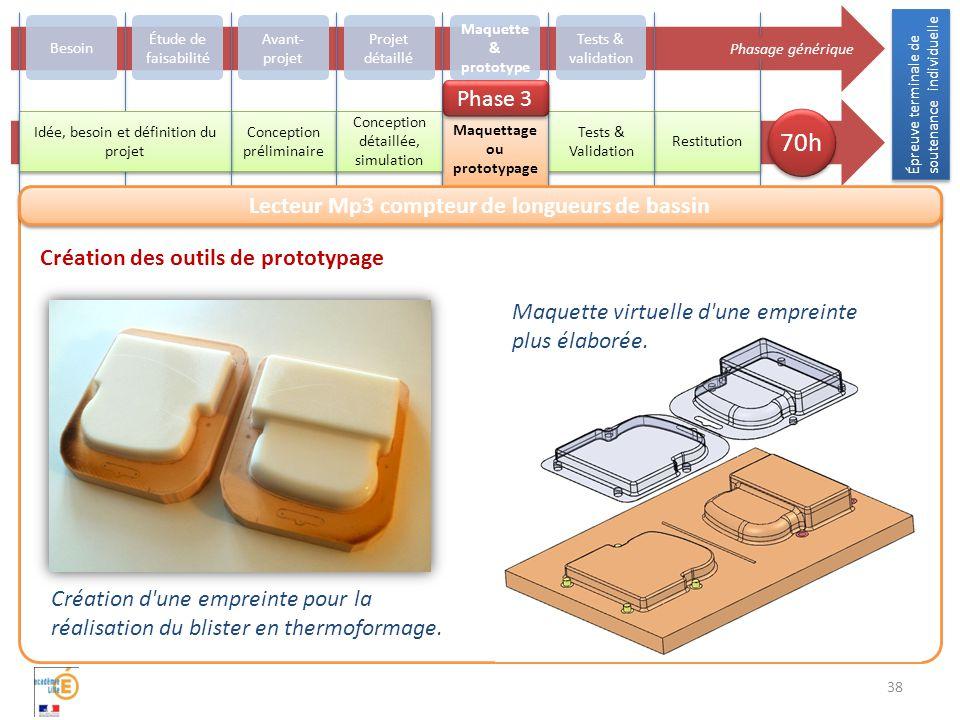 38 Création d une empreinte pour la réalisation du blister en thermoformage.