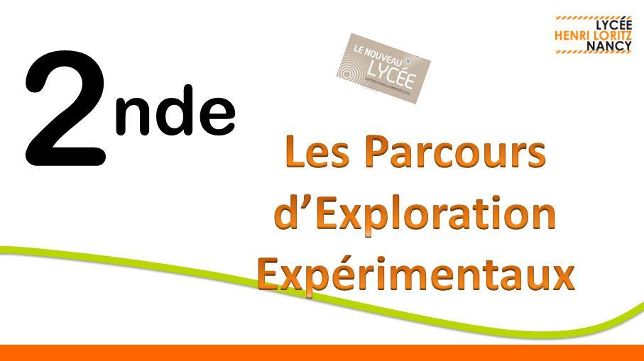 Sciences Appliquées Un parcours expérimental de SI, CIT 2 nde