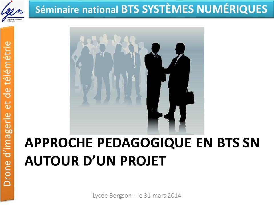 Séminaire national BTS SYSTÈMES NUMÉRIQUES Drone dimagerie et de télémétrie Problématique : mesure et restitution de t° sur pont Lycée Bergson - le 31 mars 2014 Quel drone .