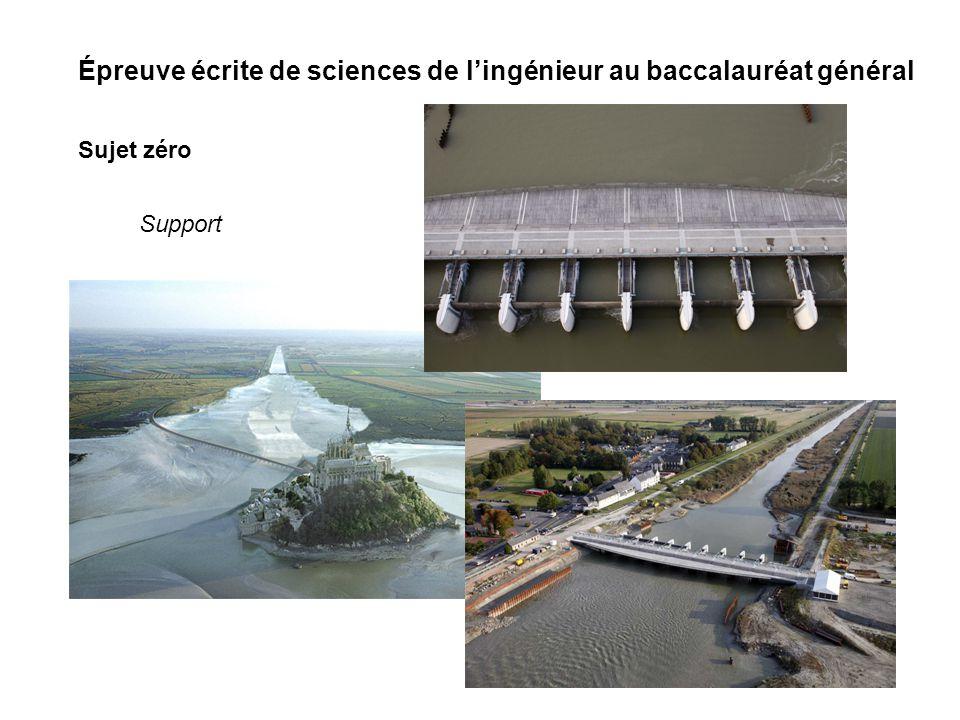 Épreuve écrite de sciences de lingénieur au baccalauréat général Sujet zéro Support