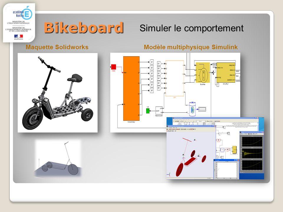 Bikeboard Maquette Solidworks Simuler le comportement Modèle multiphysique Simulink