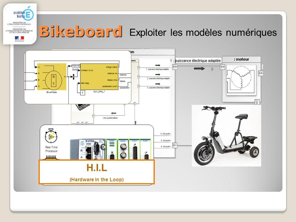 Bikeboard Exploiter les modèles numériques H.I.L (Hardware In the Loop)