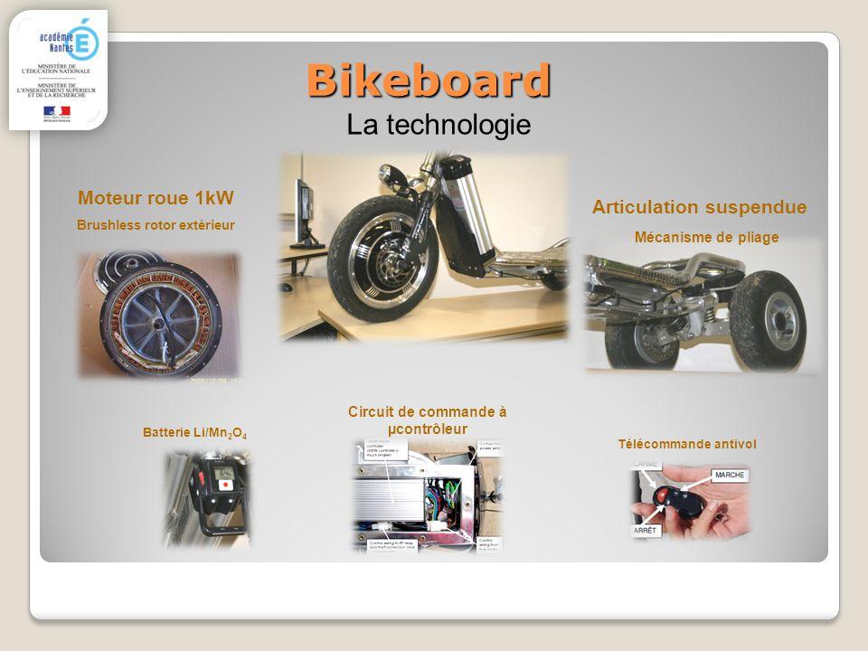 Bikeboard La technologie Moteur roue 1kW Brushless rotor extérieur Télécommande antivol Articulation suspendue Mécanisme de pliage Batterie Li/Mn 2 O