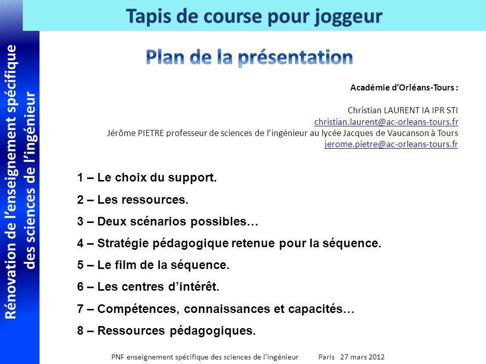 Rénovation de lenseignement spécifique des sciences de lingénieur PNF enseignement spécifique des sciences de lingénieur Paris 27 mars 2012 1 – Le cho