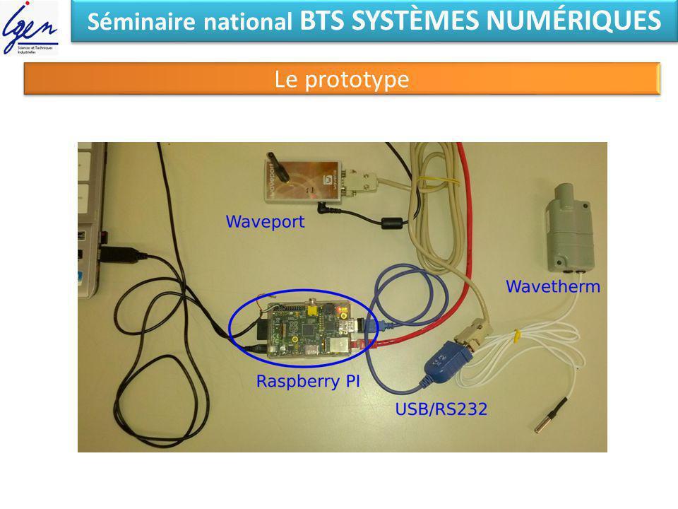 Séminaire national BTS SYSTÈMES NUMÉRIQUES Le prototype