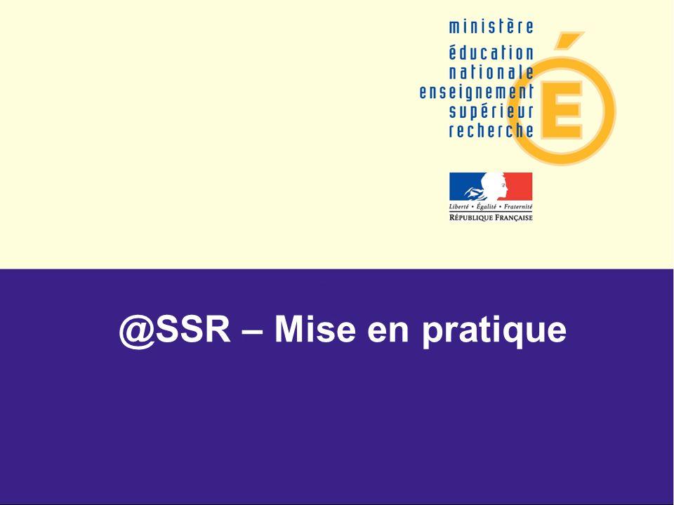 @SSR – Mise en pratique