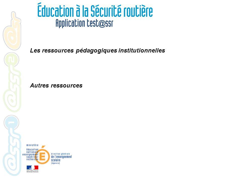Les ressources pédagogiques institutionnelles Autres ressources Les livrets ( en savoir plus...