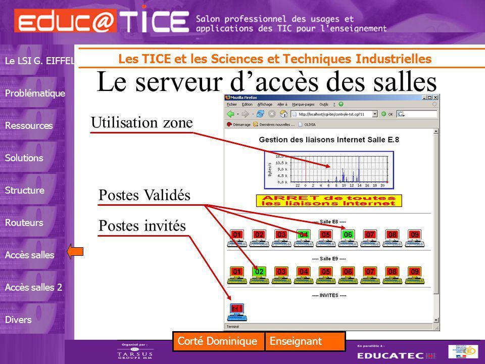 Corté DominiqueEnseignant Les TICE et les Sciences et Techniques Industrielles Le LSI G.