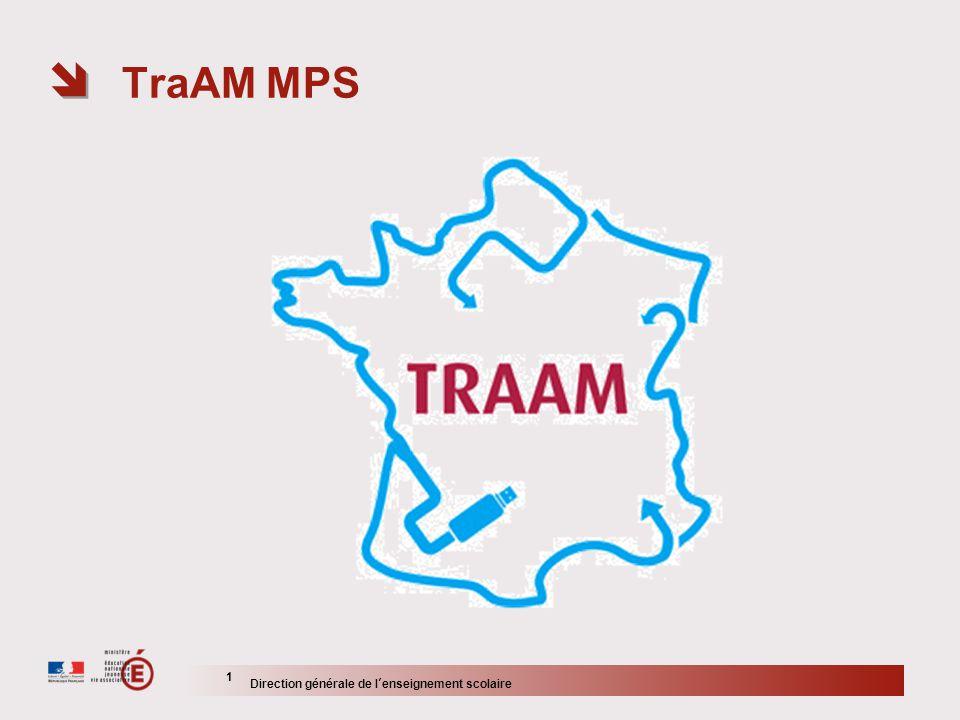 TraAM MPS 1 Direction générale de lenseignement scolaire