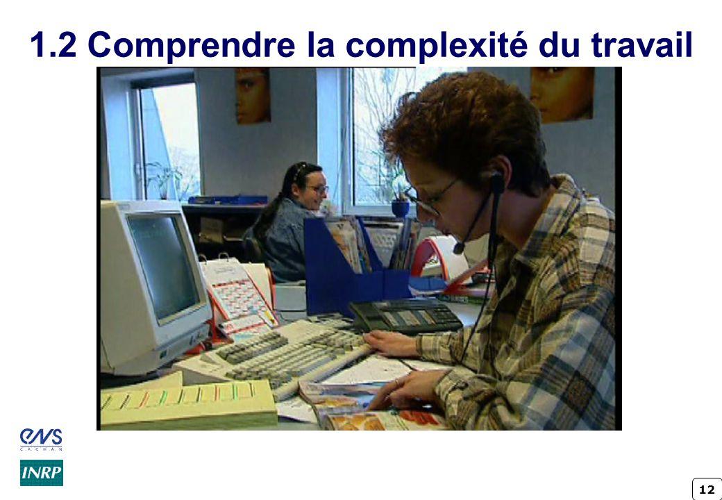 12 1.2 Comprendre la complexité du travail