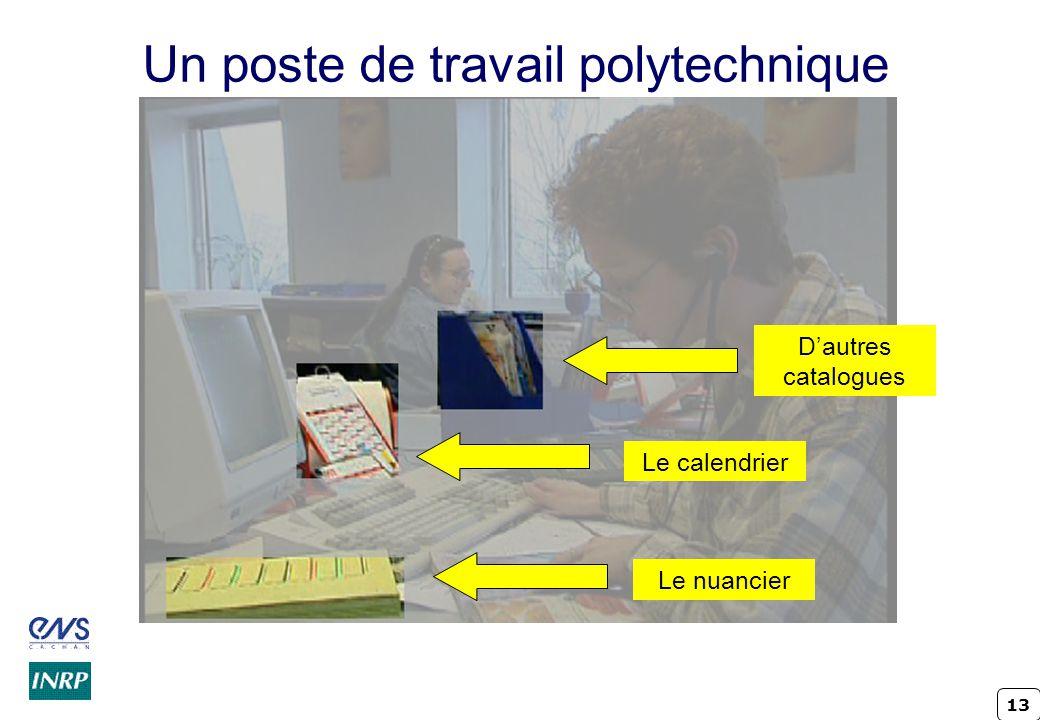 13 Un poste de travail polytechnique Le nuancier Le calendrier Dautres catalogues