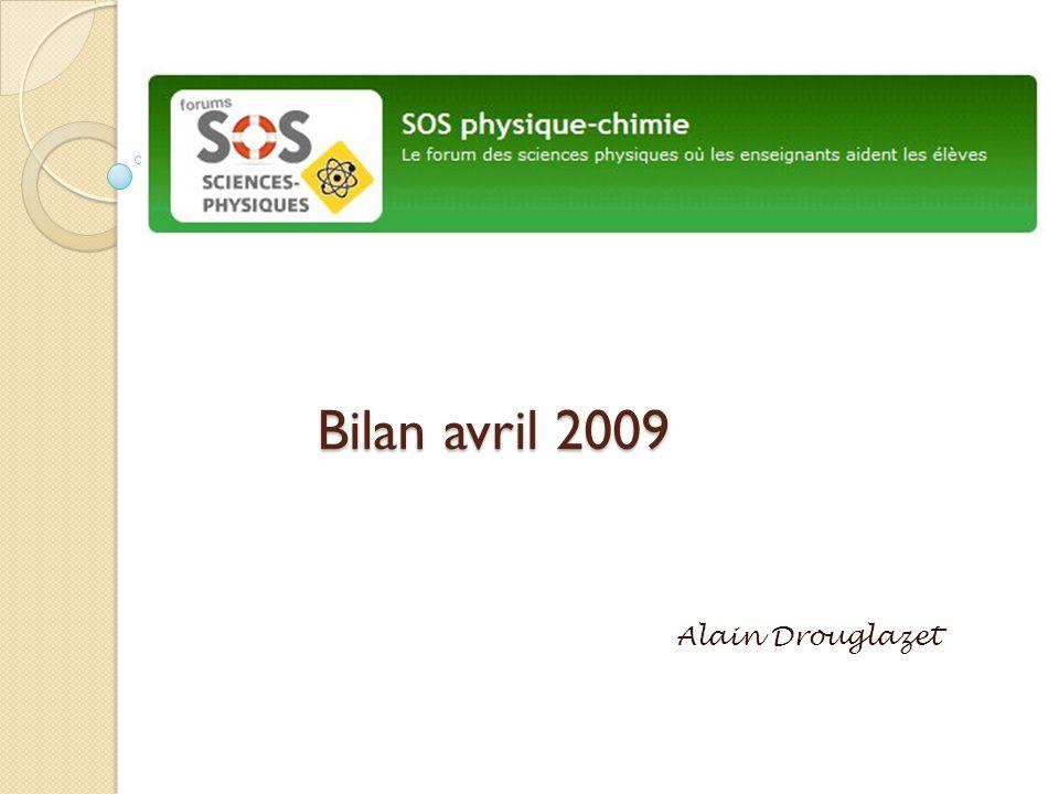 Bilan avril 2009 Alain Drouglazet