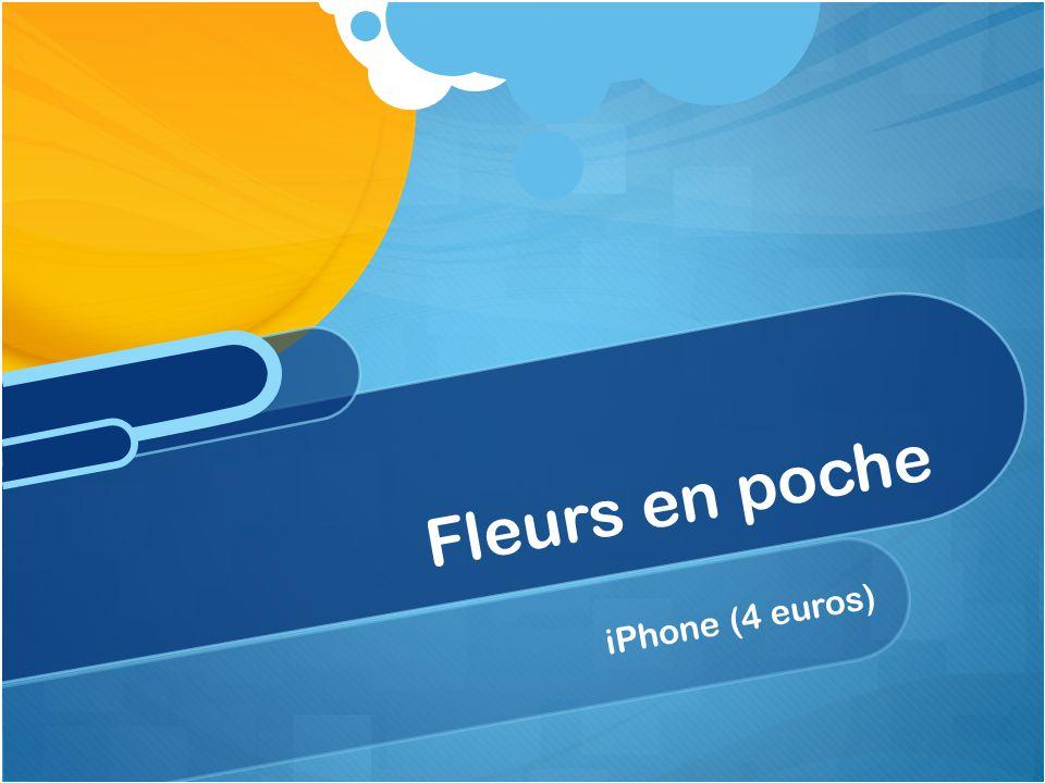 iPhone (4 euros) Fleurs en poche