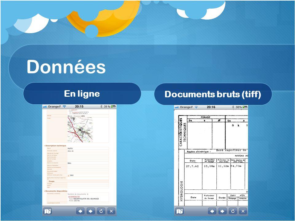 Données En ligne Documents bruts (tiff)