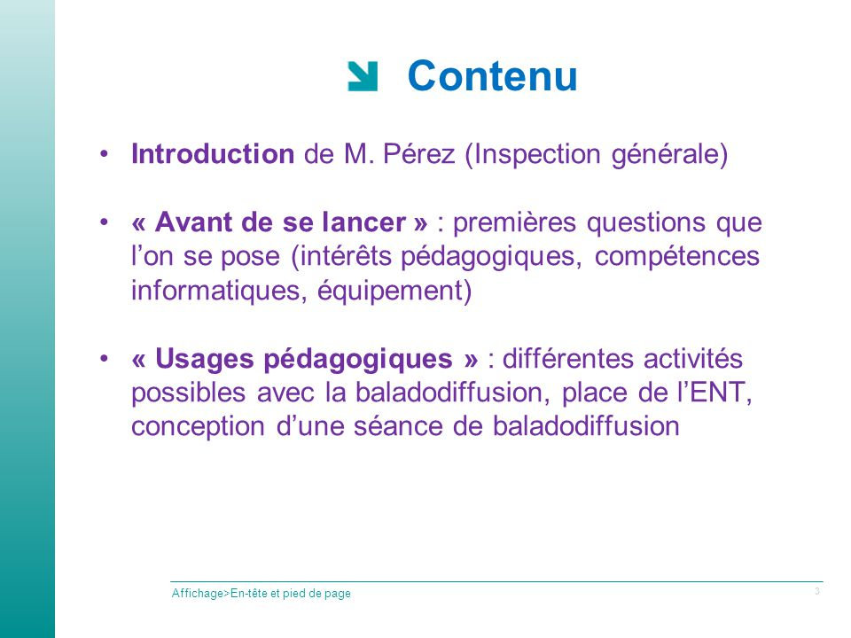 Contenu Introduction de M.