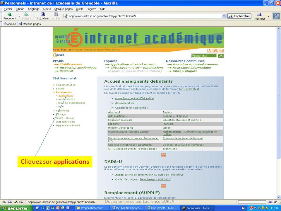 Cliquez sur ASSED Document créé par Laurence BURLAT