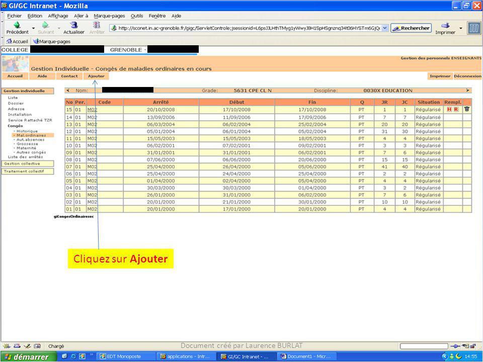 Cliquez sur Ajouter Document créé par Laurence BURLAT