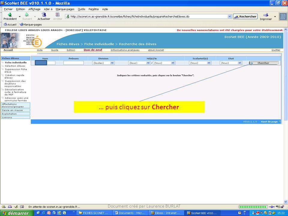 … puis cliquez sur Chercher Document créé par Laurence BURLAT