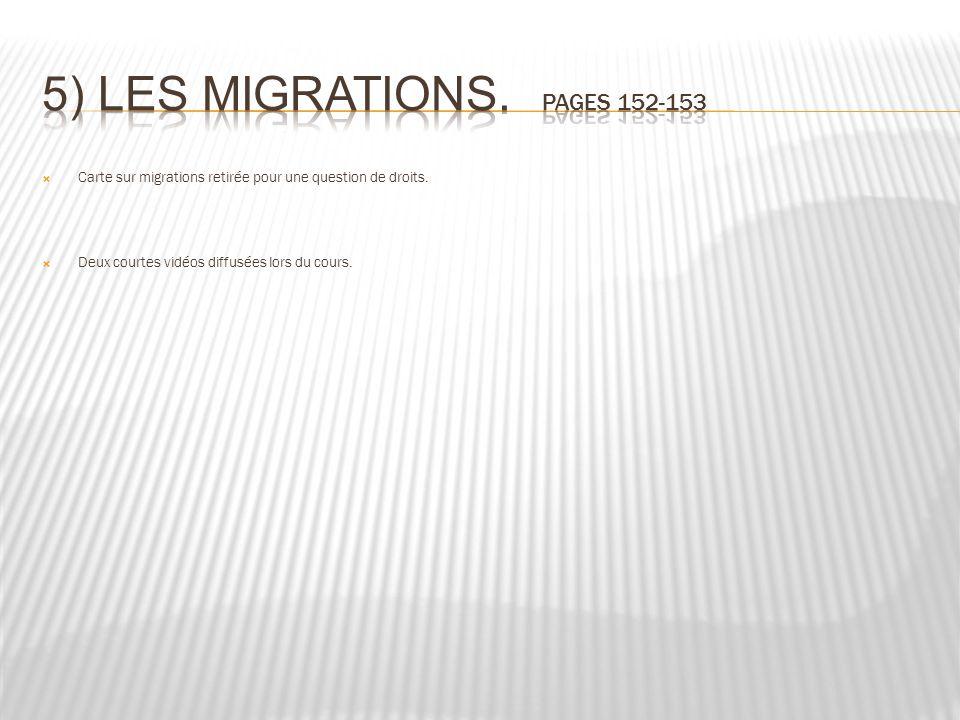 Carte sur migrations retirée pour une question de droits. Deux courtes vidéos diffusées lors du cours.