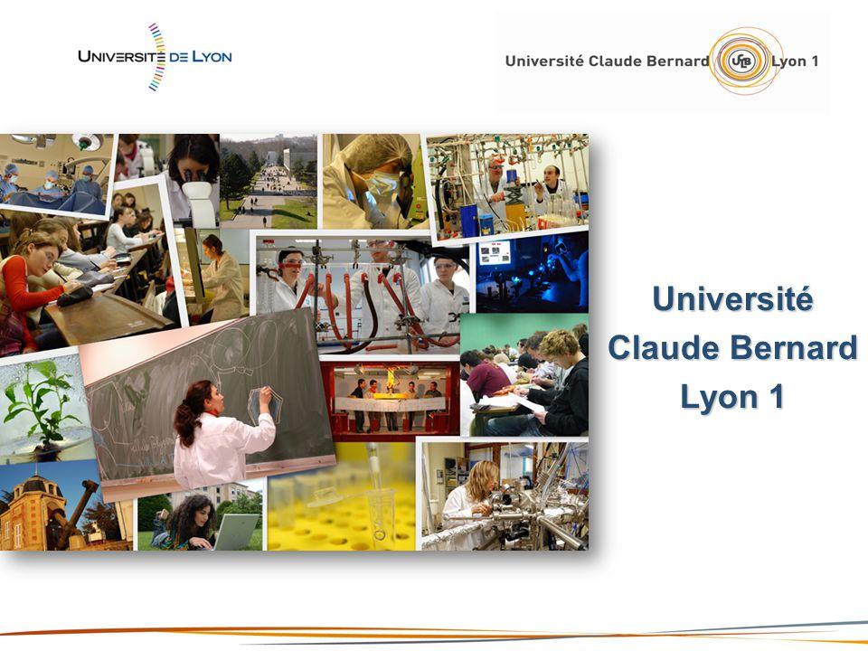 4 ème université française 1 ère université française en santé 5 000 personnels 36 000 étudiants 86 unités de recherche 14 sites géographiques 443 000 m² LUniversité Claude Bernard Lyon 1