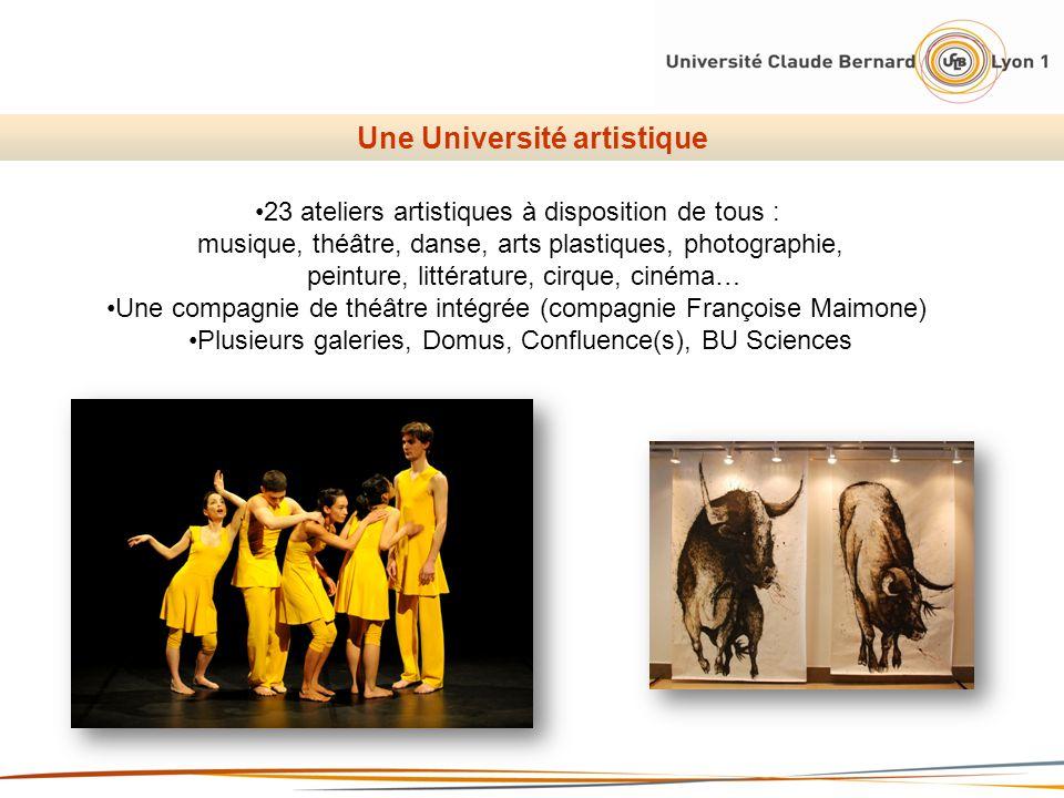 Une Université artistique 23 ateliers artistiques à disposition de tous : musique, théâtre, danse, arts plastiques, photographie, peinture, littératur
