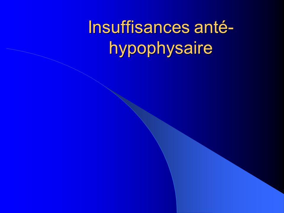Insuffisances anté- hypophysaire