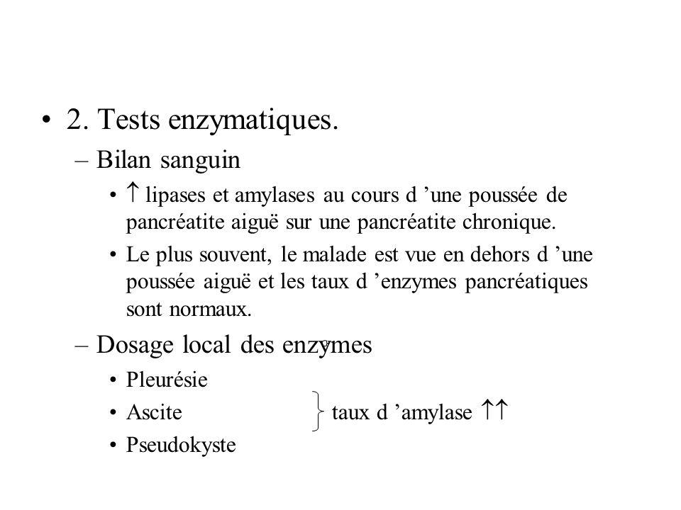 2.Tests enzymatiques.