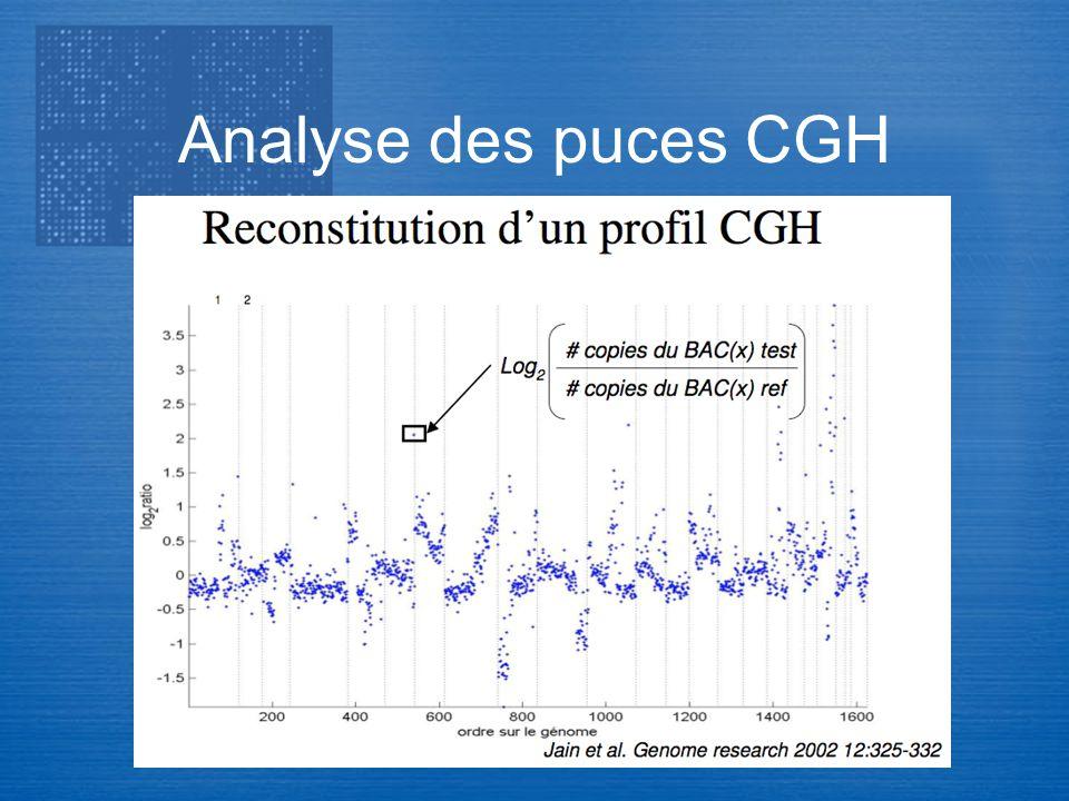 Transcriptome Analyse des puces CGH