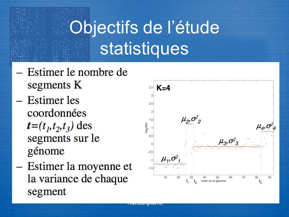 Transcriptome Objectifs de létude statistiques