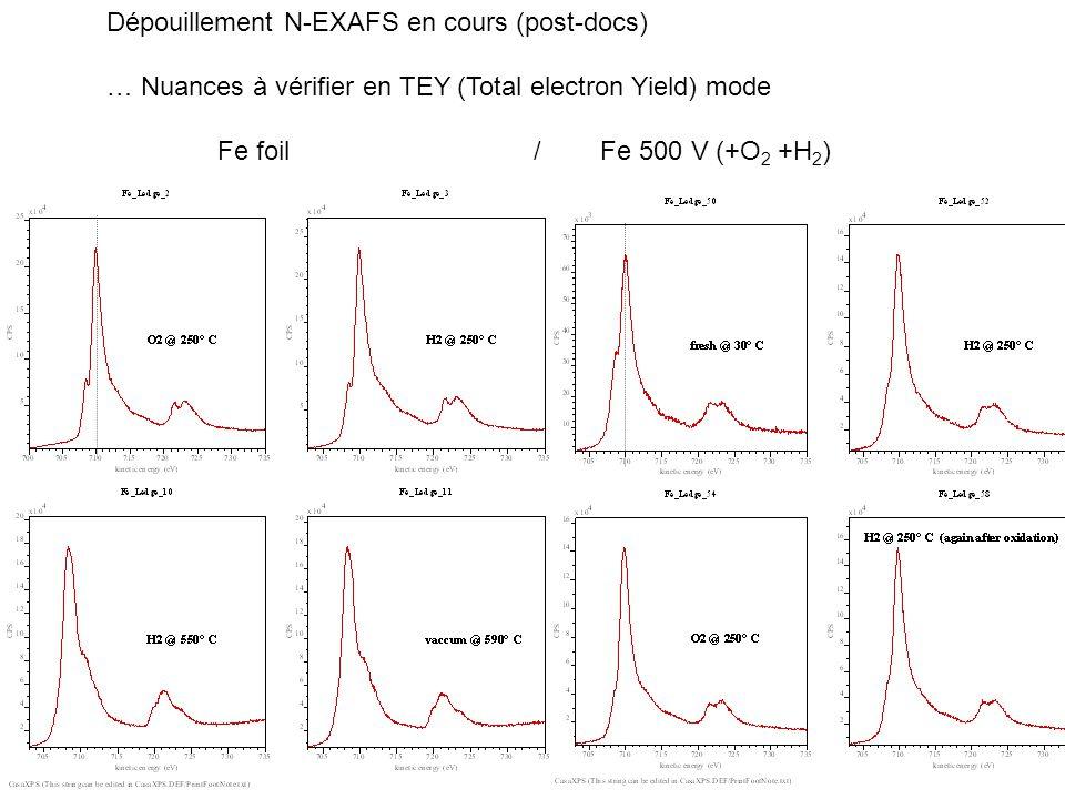 Futur.- Proposal HP-XPS sur des Nanoalliages at MaxLab in Sweden.