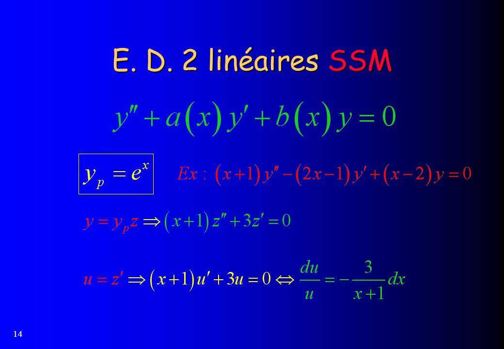 14 E. D. 2 linéaires SSM
