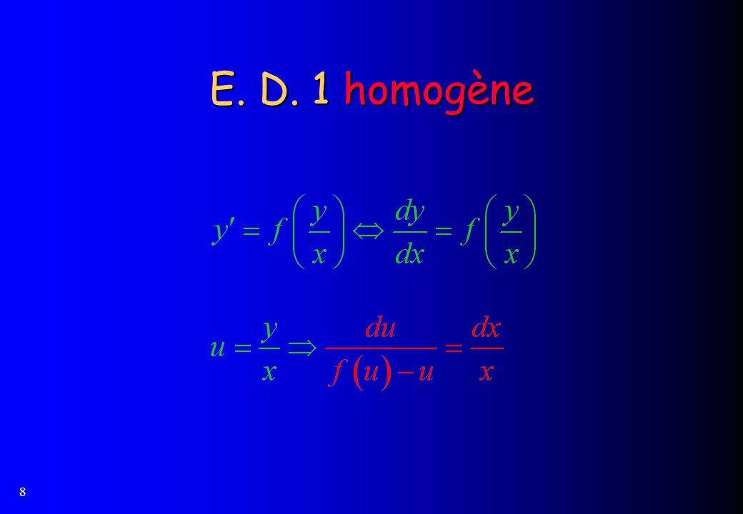 8 E. D. 1 homogène