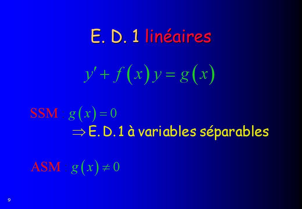 9 E. D. 1 linéaires
