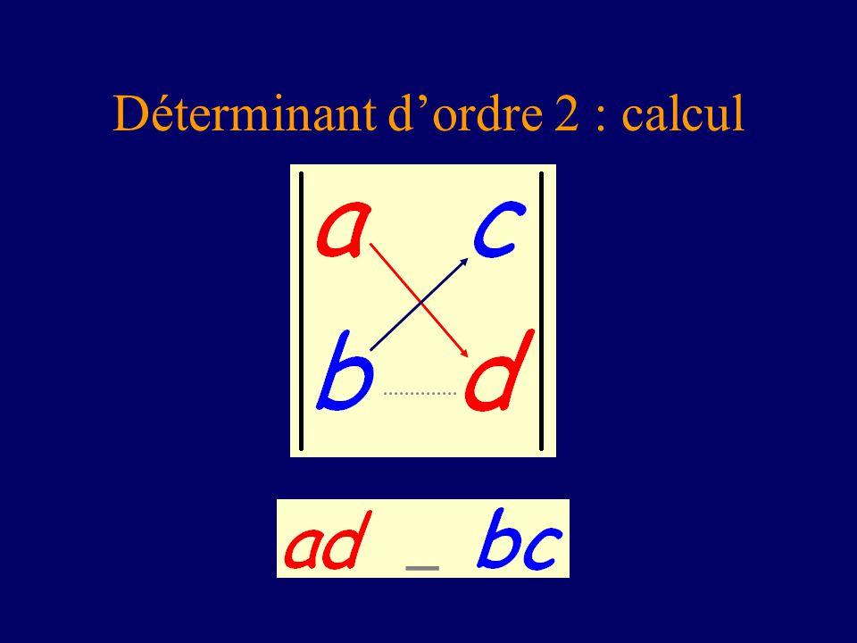 Déterminant dordre 2 : calcul _