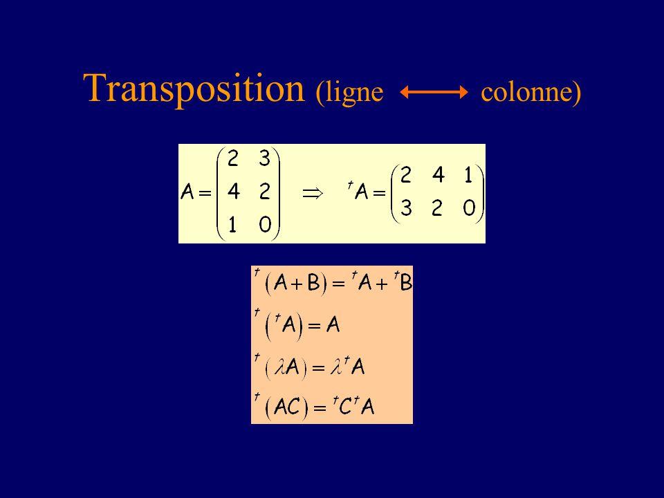 Transposition (ligne colonne)