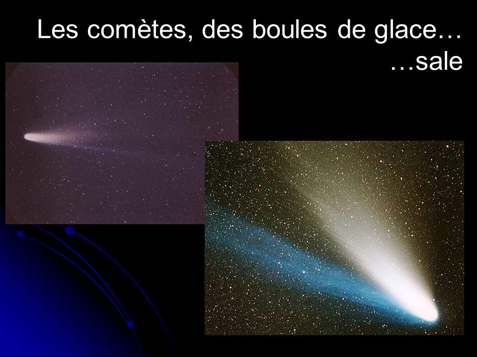 Les comètes, des boules de glace… …sale