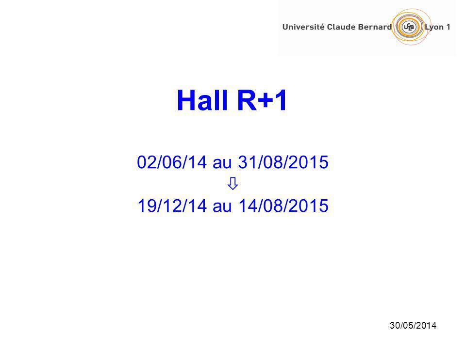 Hall R+1 02/06/14 au 31/08/2015 19/12/14 au 14/08/2015