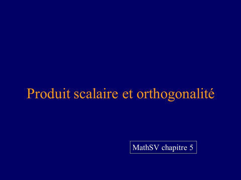 Produit scalaire et orthogonalité MathSV chapitre 5