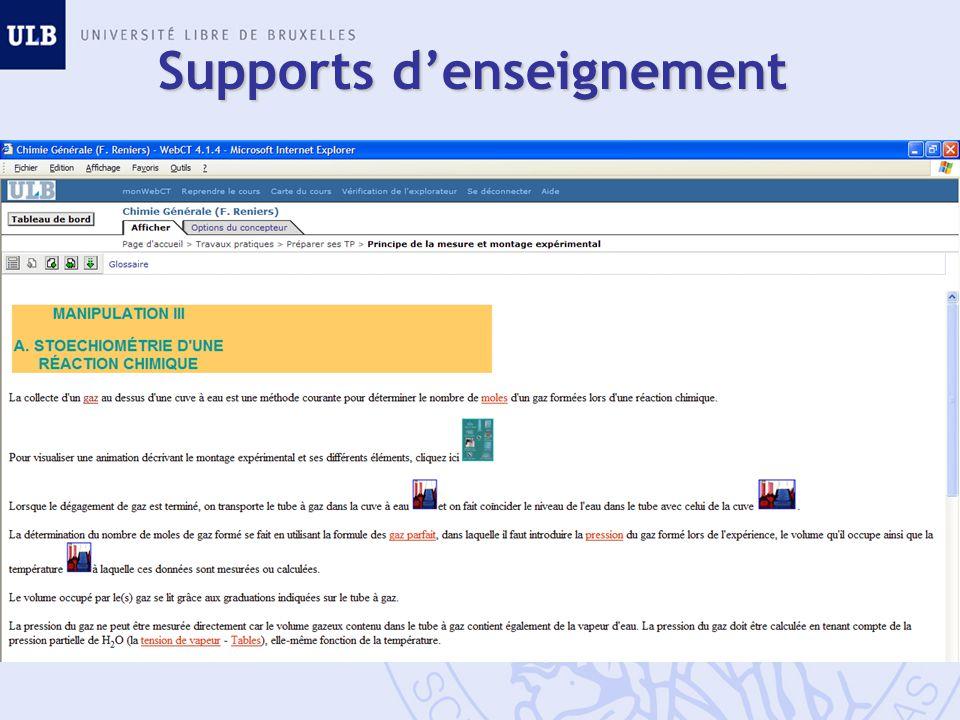 Supports denseignement