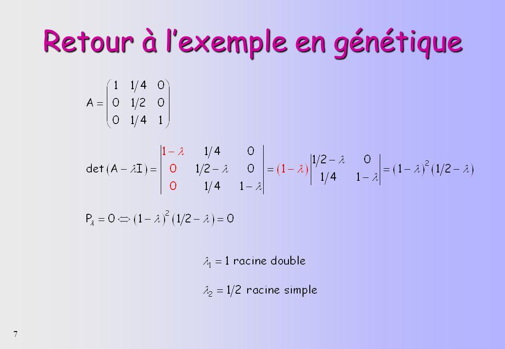 7 Retour à lexemple en génétique