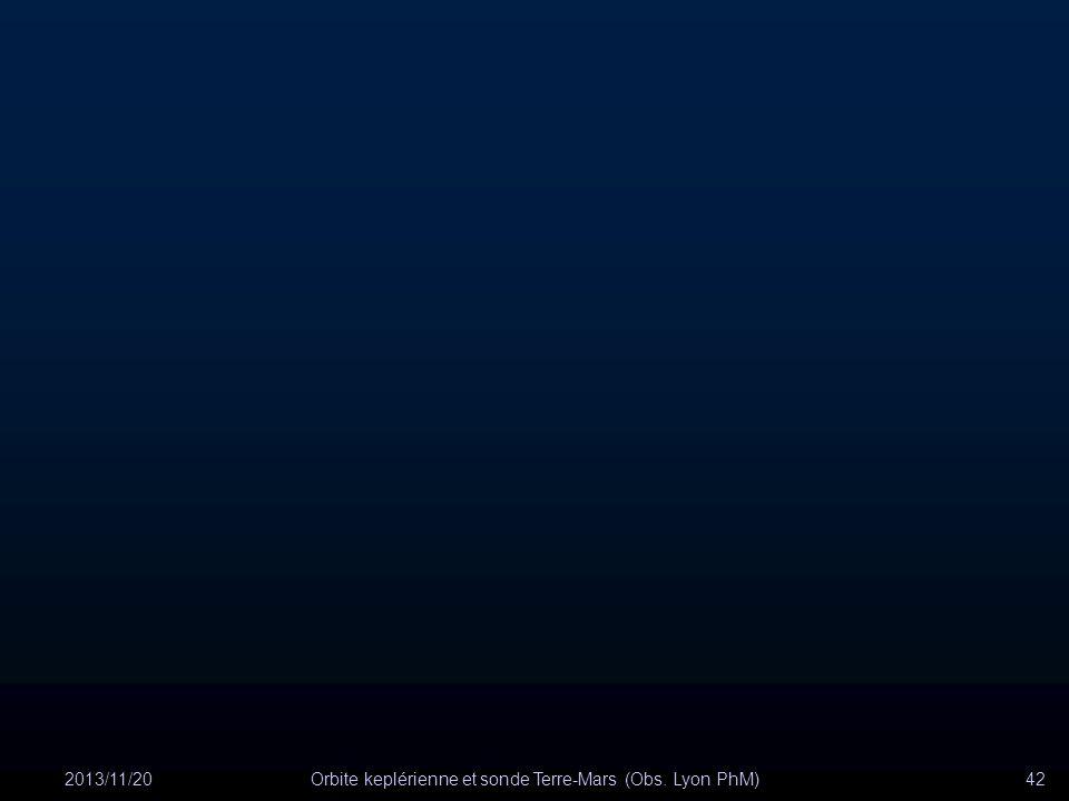 2013/11/20Orbite keplérienne et sonde Terre-Mars (Obs. Lyon PhM)42