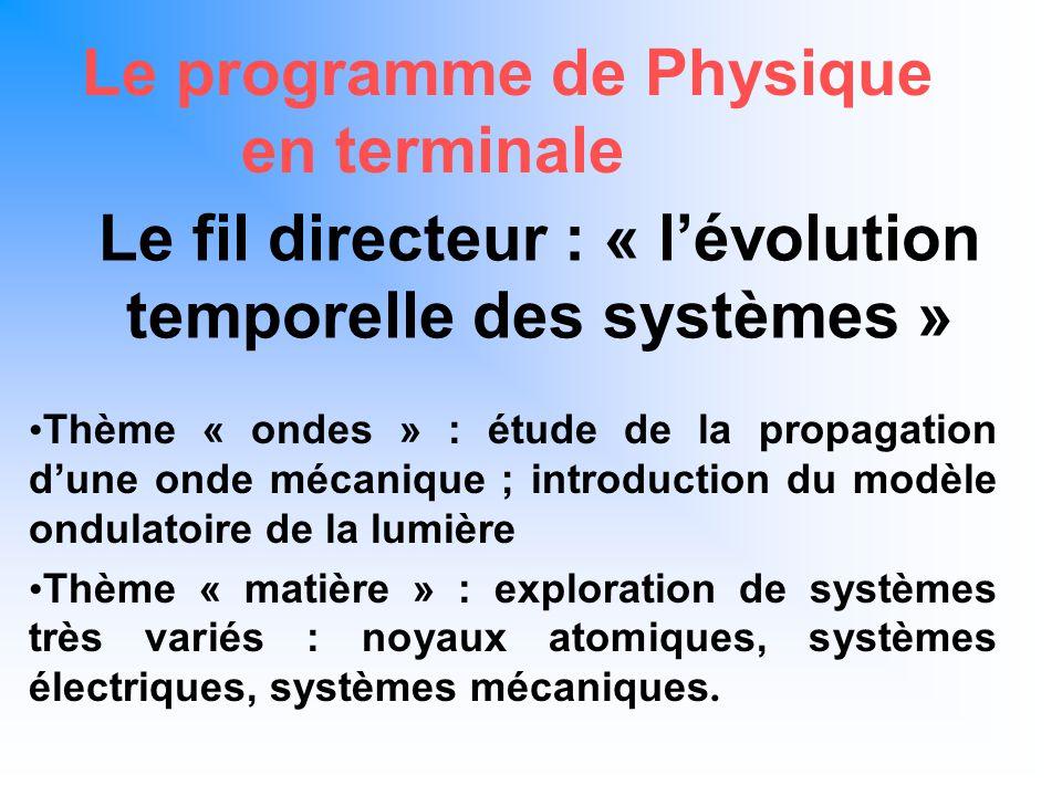 Le programme de Physique cohérence verticale En classe de seconde grandeurs physiques et leur mesure Distances, temps, masse ….